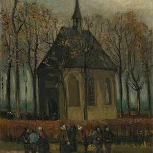 Van Gogh Giclée, Congregation Leaving the Reformed Church in Nuenen