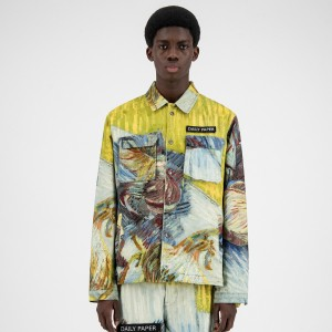 Daily Paper x Van Gogh Museum® Blue Cabbages Van Cargo Coach Jacket