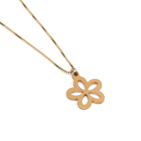 Van Gogh Gold plated necklace with open flower, by Ellen Beekmans®
