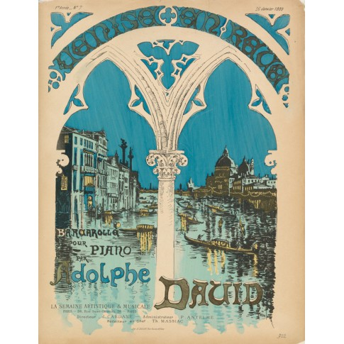 Sheet music Venise en rêve by Adolphe David