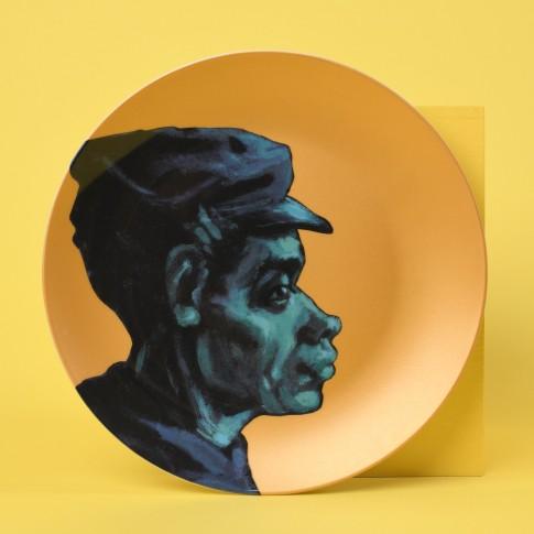 Plato de porcelana dorado Van Gogh &Klevering®, Los comedores de patatas 4