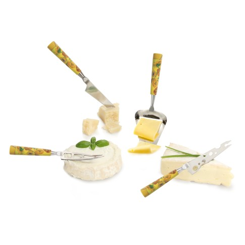 Cheese knife set mini Van Gogh Sunflowers