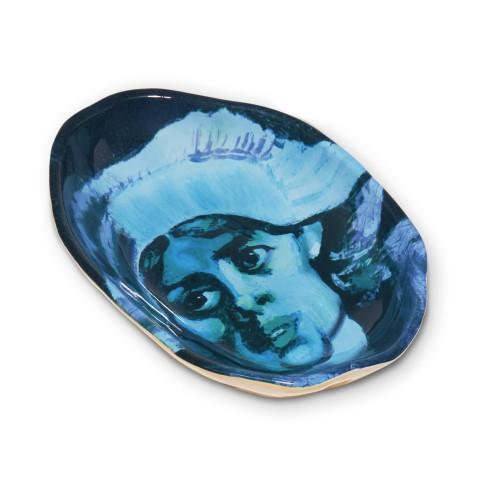 Cuenco de porcelana Van Gogh &Klevering®, Los comedores de patatas (mujer)