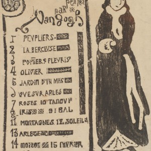 Exhibition catalogue for the Van Gogh exhibition at gallery Le Barc de Boutteville (1892) with Lady with a Muff (La dame au manchon)