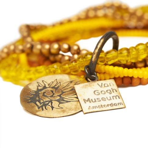 Van Gogh A Beautiful Story® Armband Zonnebloemen 7-strings
