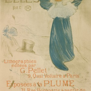 Poster for the publication and the exhibition of the series Elles at the 20th exhibition of Salon des Cent at La Plume (Paris, from 22 April 1896)