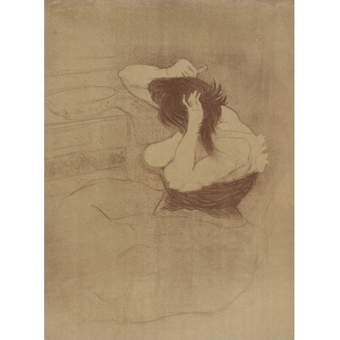 Woman Combing her Hair, the Hairdo (Femme qui se peigne, la coiffure) from the series Elles