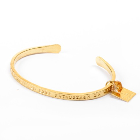 Van Gogh A Beautiful Story® Armband quote 'Enthusiasm in life'