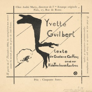 Announcement for the Album Yvette Guilbert