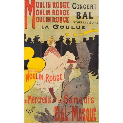 Moulin Rouge, La Goulue, poster for the Dance Hall Le Moulin Rouge